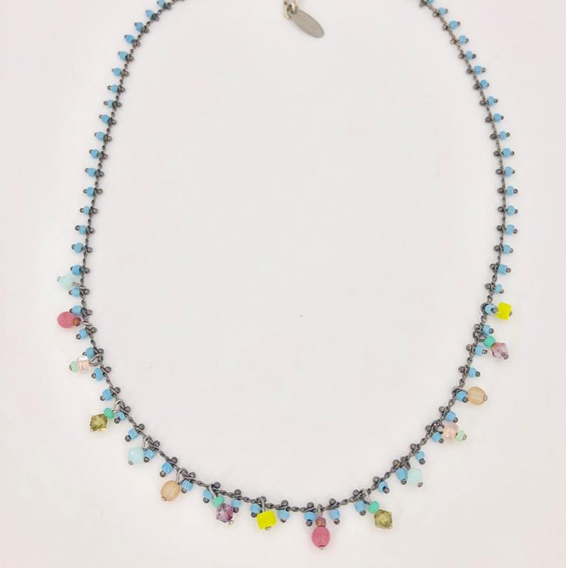 Stikkelorum Halskette Stk0020 Blau H