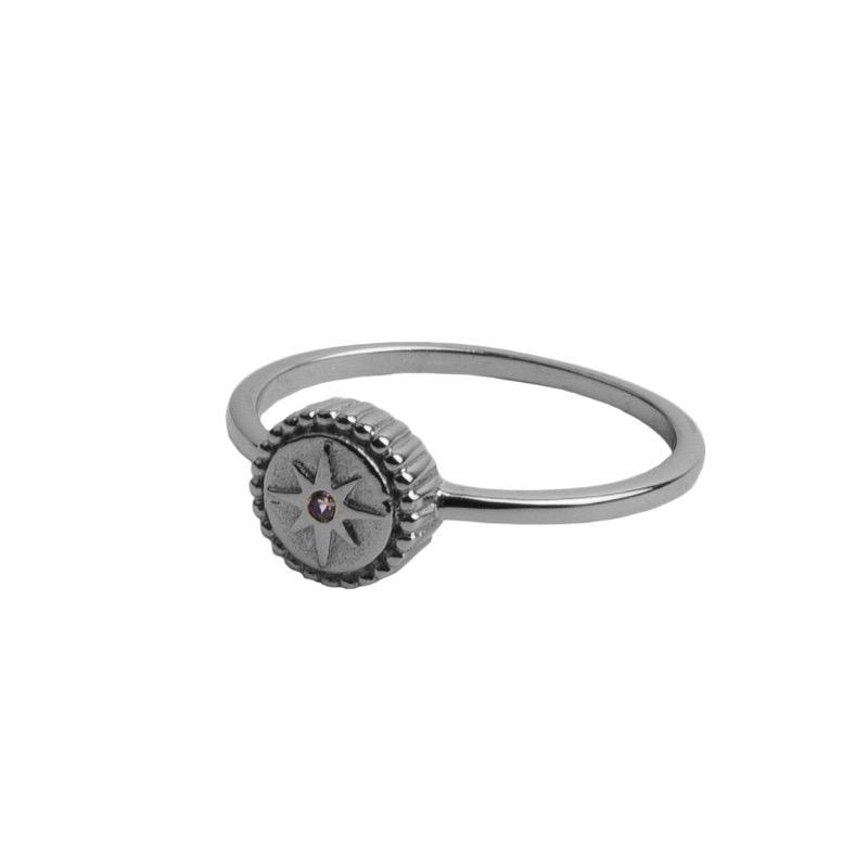 Atlitw Starburst Ring Silber 8844