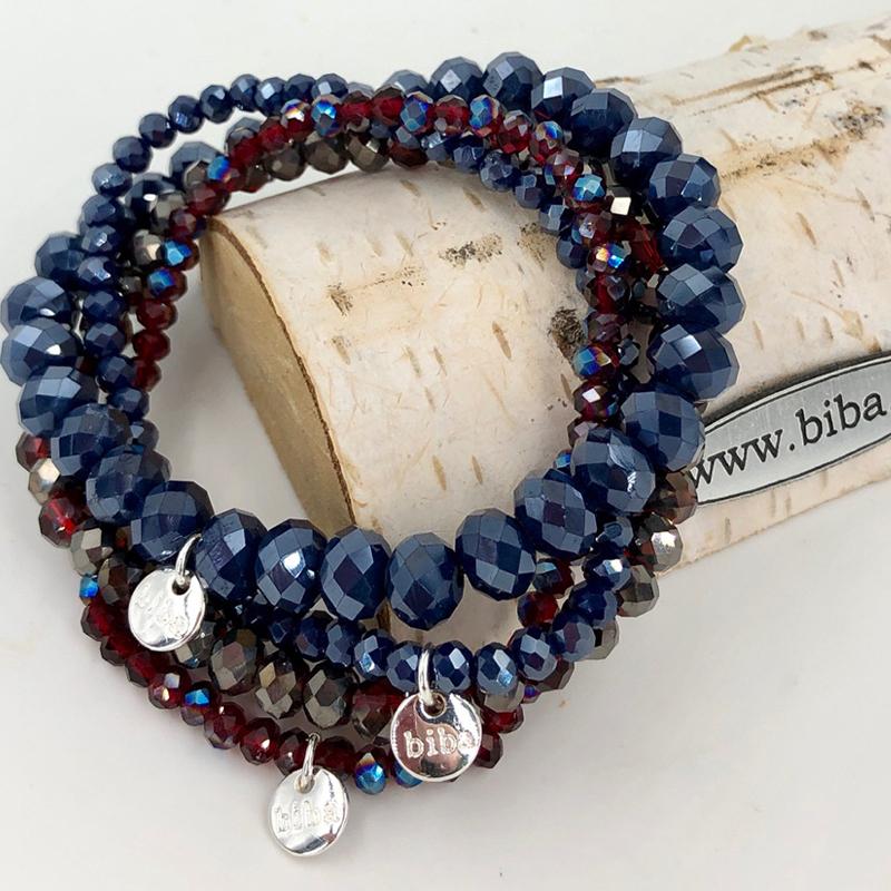 Biba Armband Set Blau7rot Mix 2 009