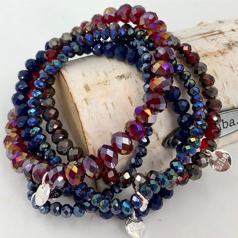 Biba Armband Set Blau:rot Mix 4 036