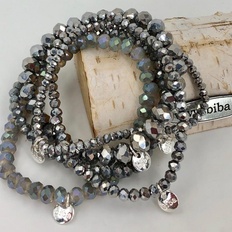 Biba Armband Set Grau Mix 1 026