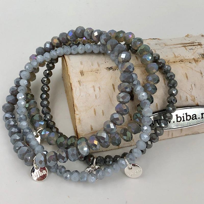Biba Armband Set Grau Mix 2 027
