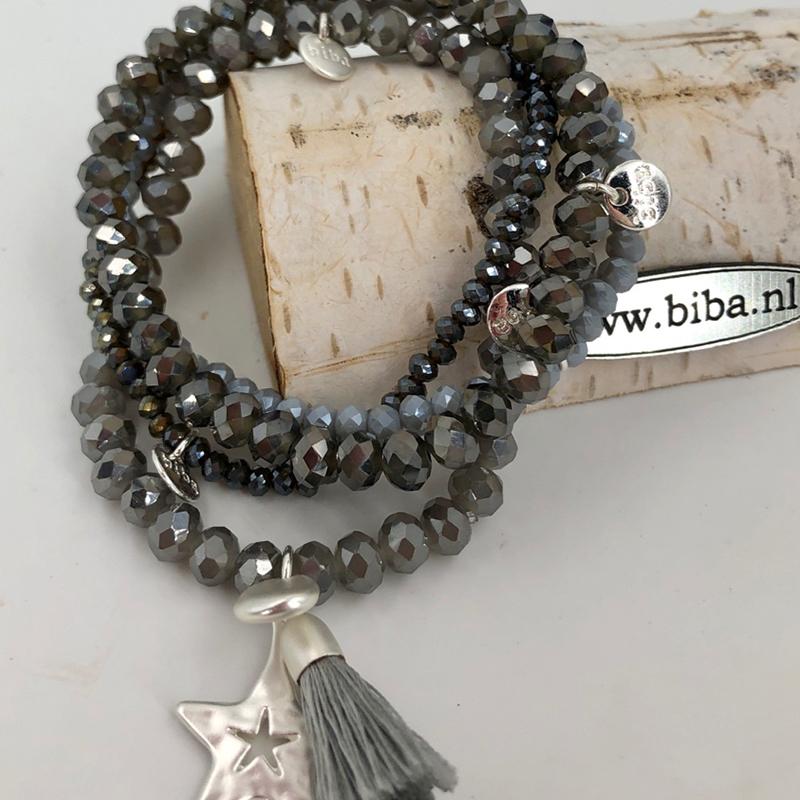 Biba Armband Set Grau:silber Stern 010