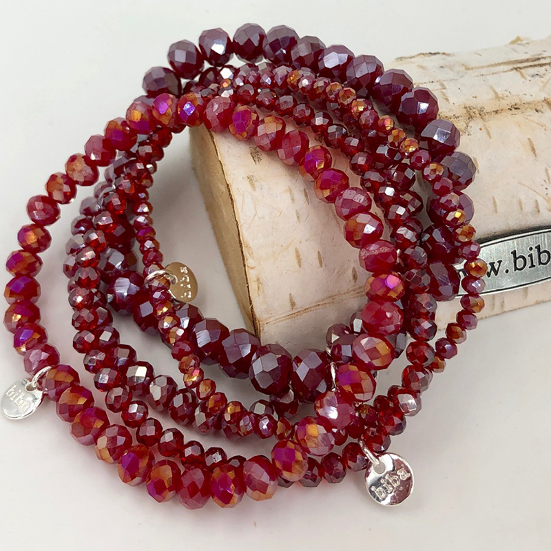 Biba Armband Set Rot Mix 3 028