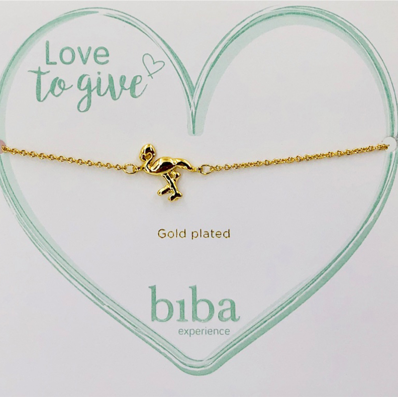 Biba Armband Gold Flamingo 52636