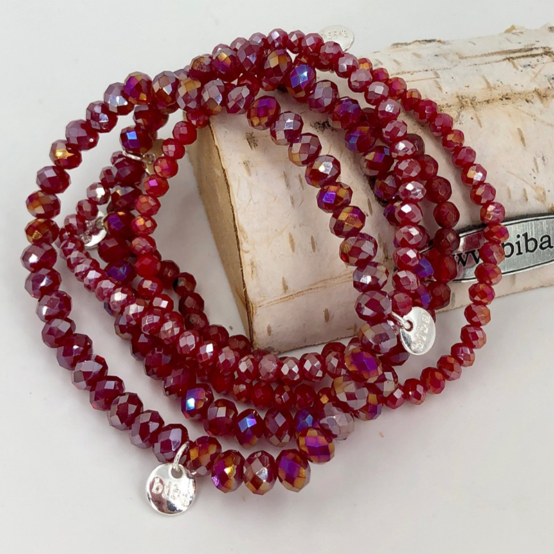Biba Armband Set Rot Mix 2