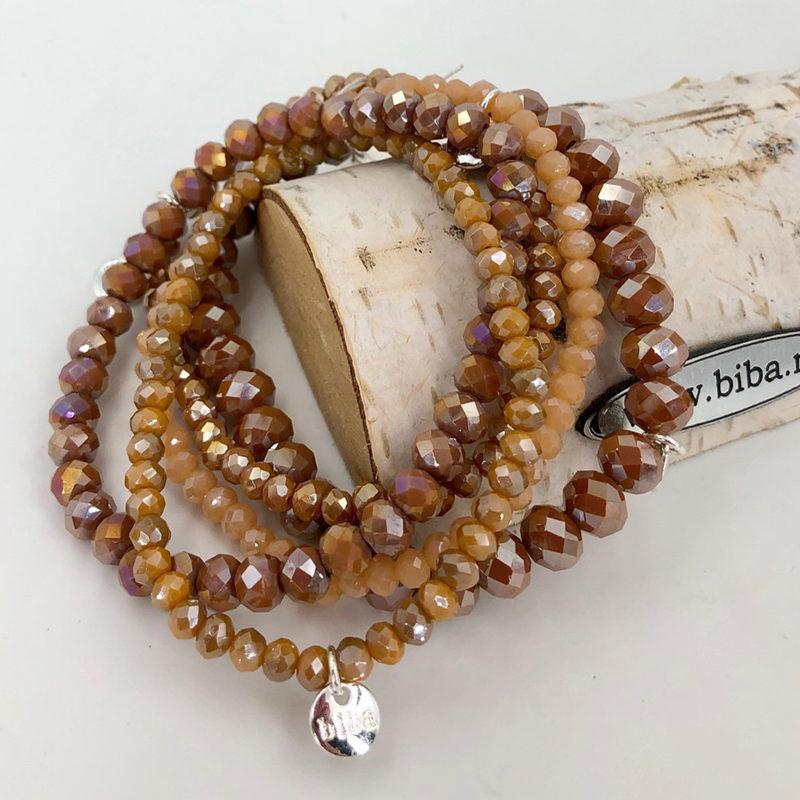 Biba Armband Set Beige Mix 5