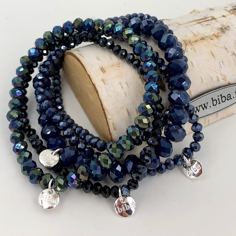 Biba Armband Set Blau Mix 4