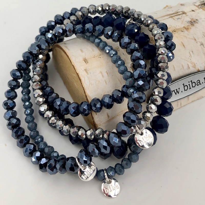 Biba Armband Set Blau:silber Mix