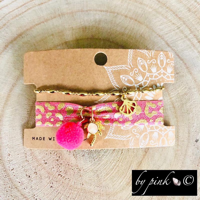 Pink Armband Set Pink
