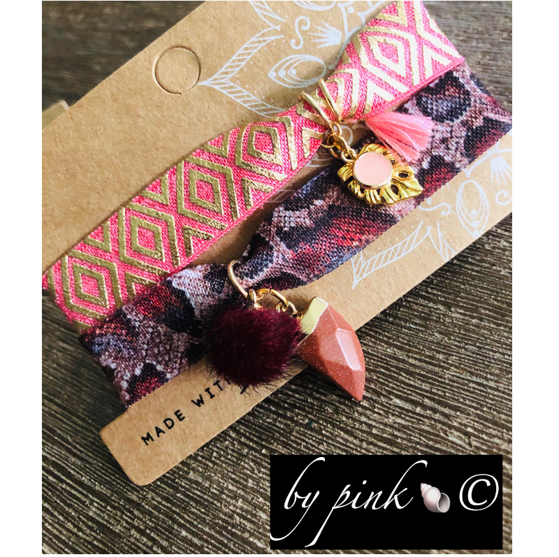 Pink Armband Set Rosa