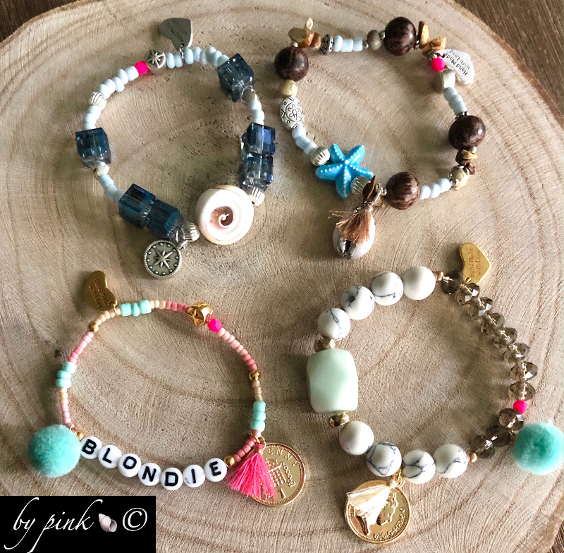 Pink Alle Perlen Armbänder