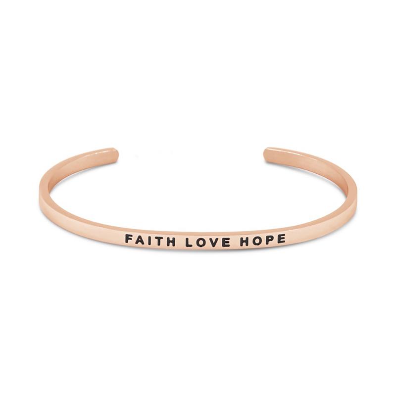The Simple Pledge 07 Rosegold Faith Love Hope
