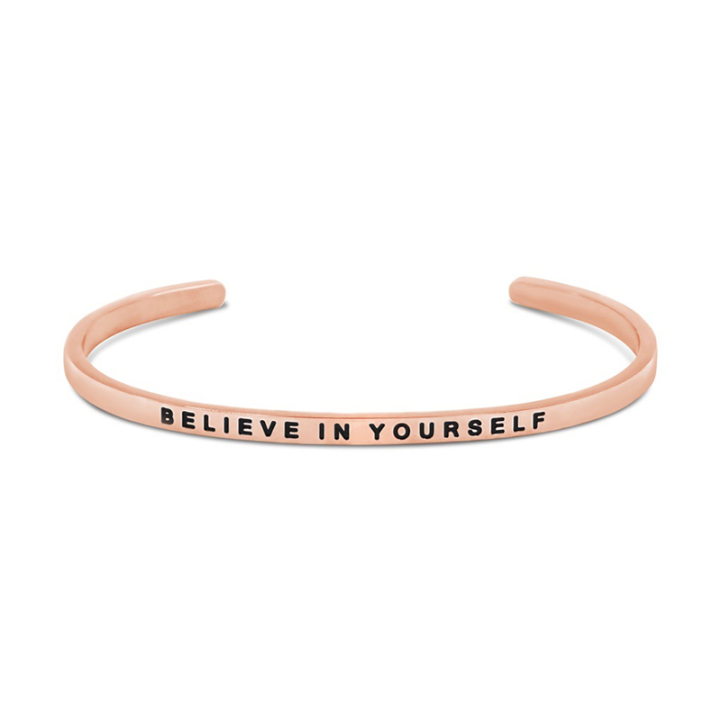 The Simple Pledge 22 Rosegold Believe In Yourself