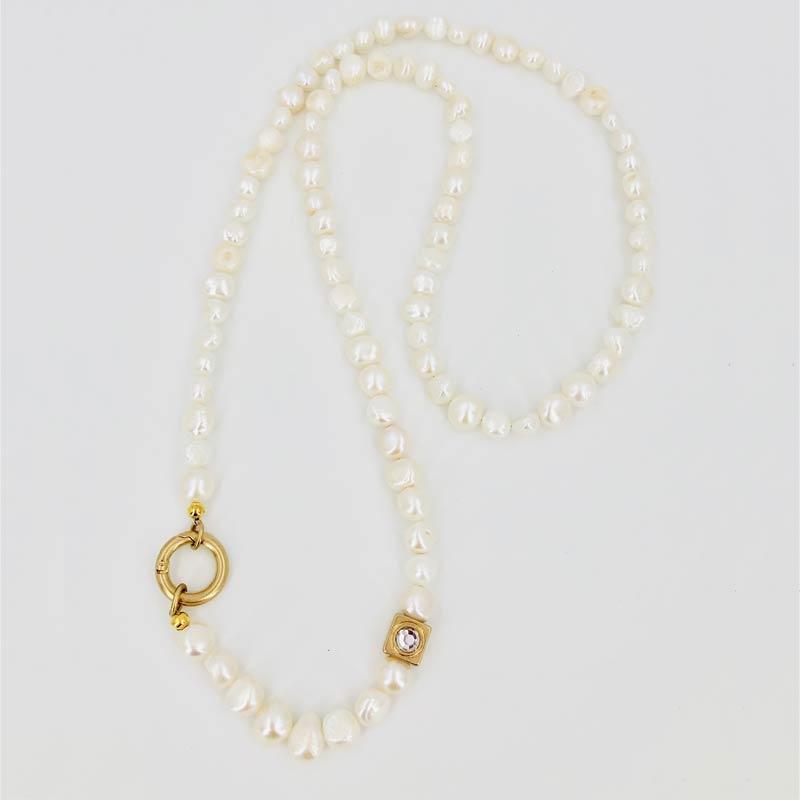 Schautime Kette Perle Gold 1