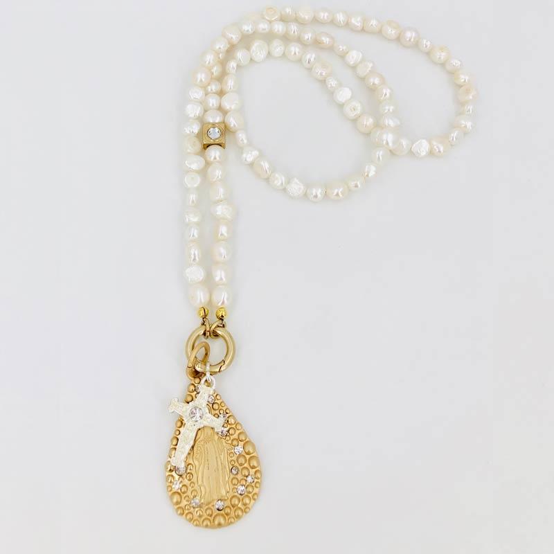 Schautime Kette Perle Gold 2