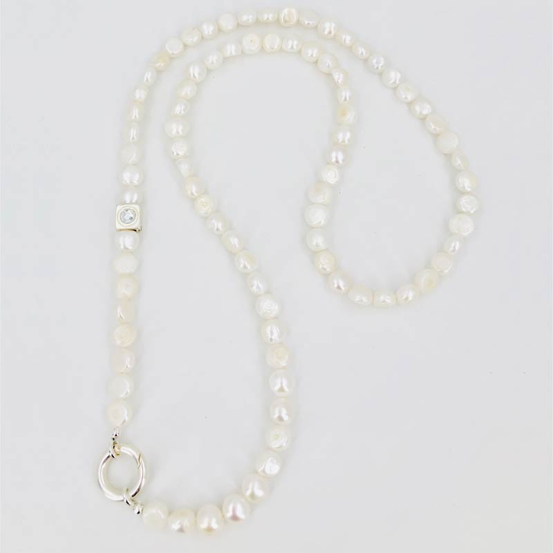 Schautime Kette Perle Silver 1