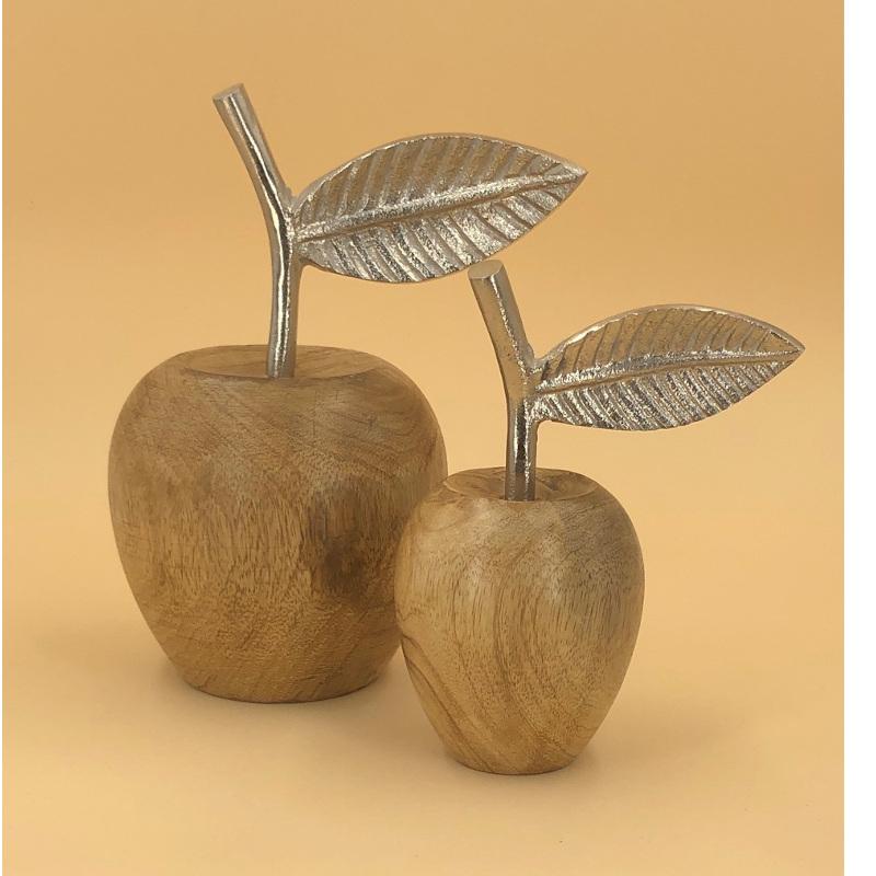 Deko Beide Äpfel Holz