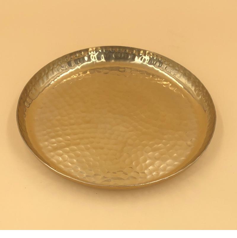 Metallschale Gold Gehämmert