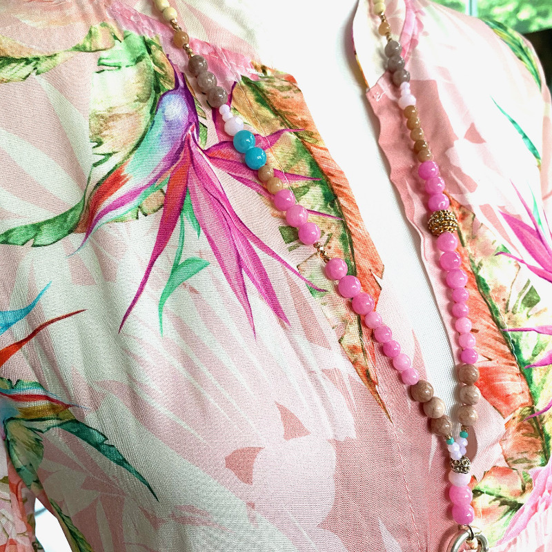 Langes Kleid Rosa 2