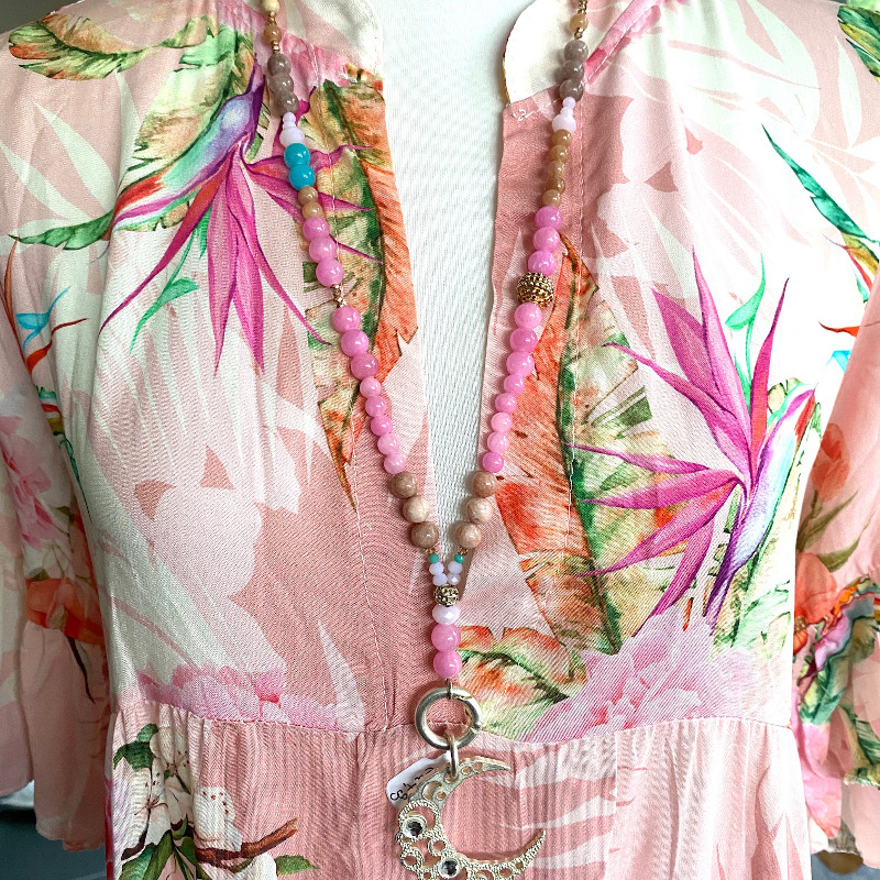 Langes Kleid Rosa 3