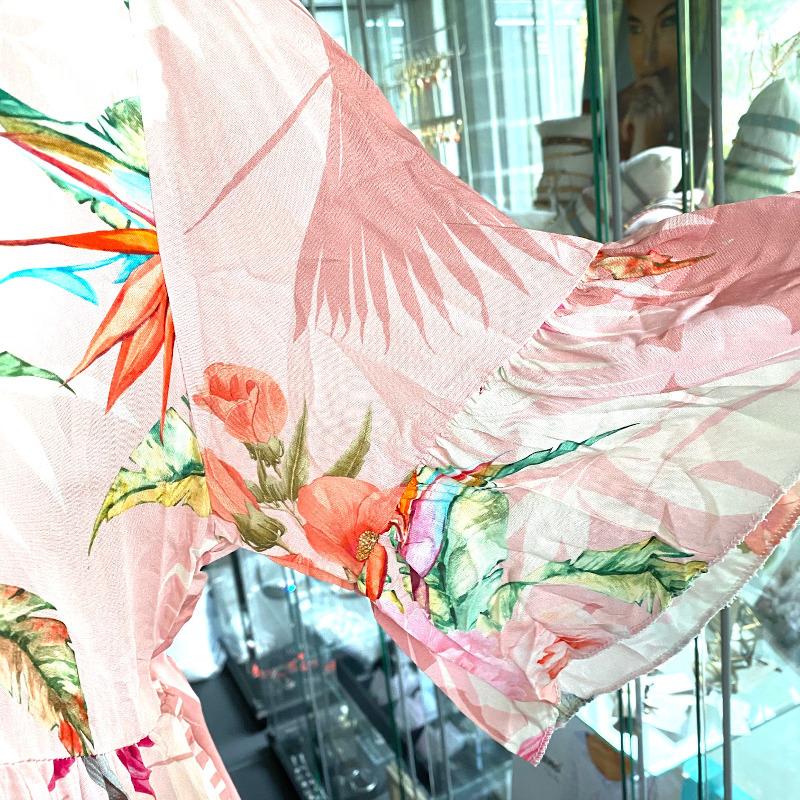 Langes Kleid Rosa 4