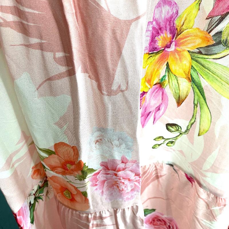Langes Kleid Rosa 5