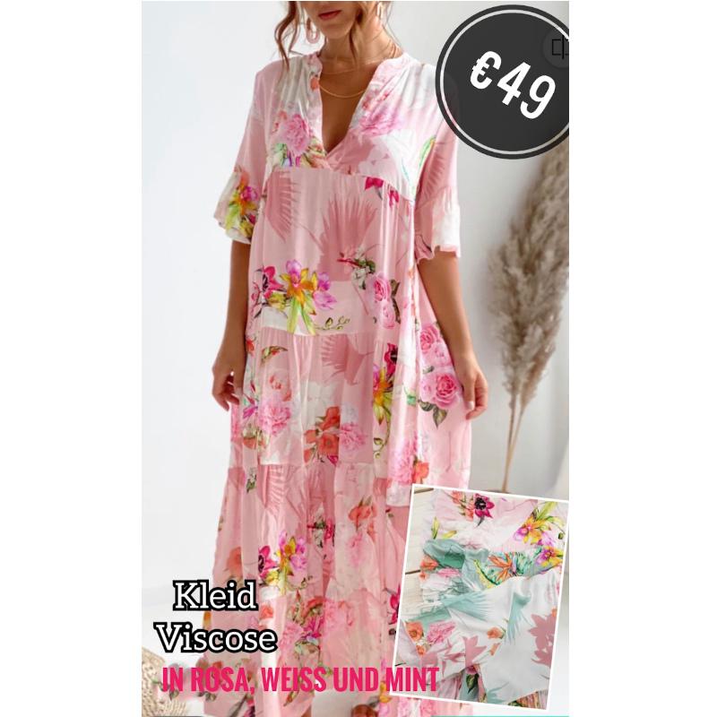 Langes Kleid Rosa 6