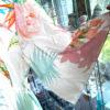 Langes Kleid Weiß 3
