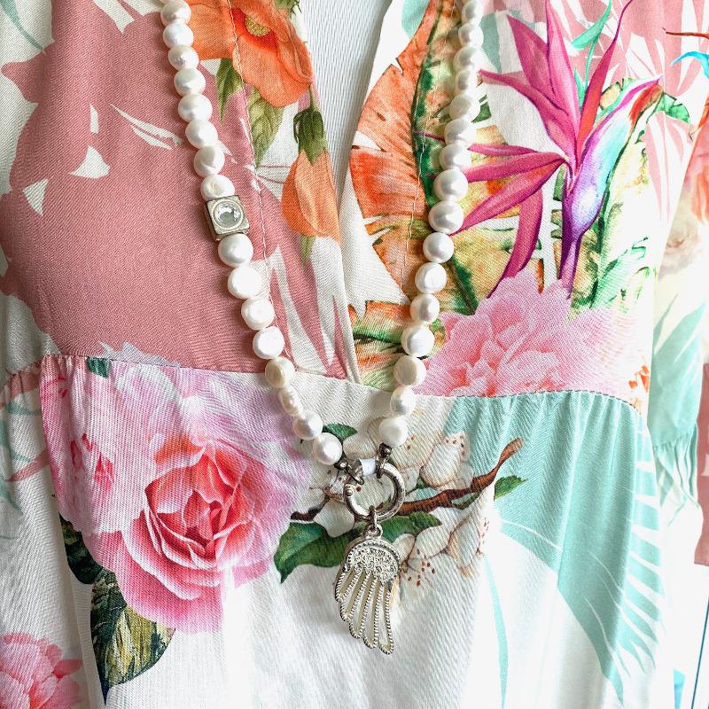 Langes Kleid Weiß 5