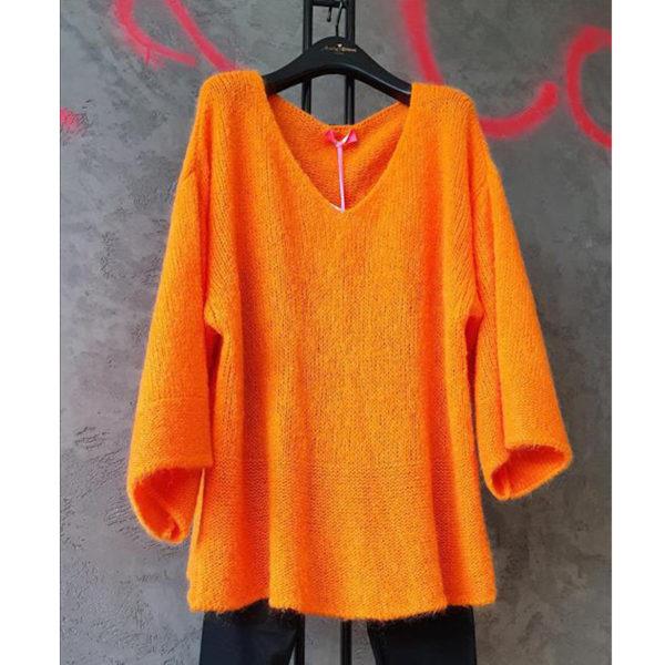 Maxi Oversized Knit Pull Orange P 2643