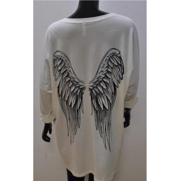Shirt Engel Wollweiß
