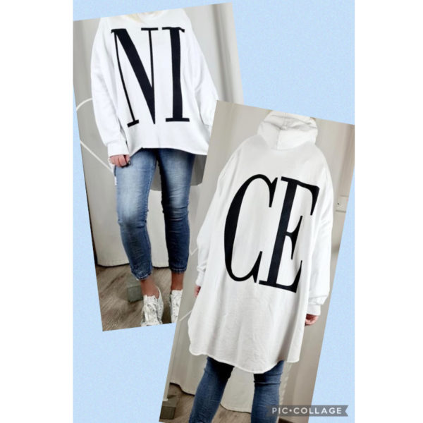 Hoodie Nice Weiß 1