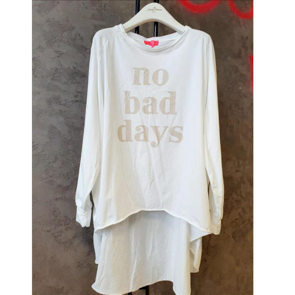 Xxl Shirt No Bad Days Weiß