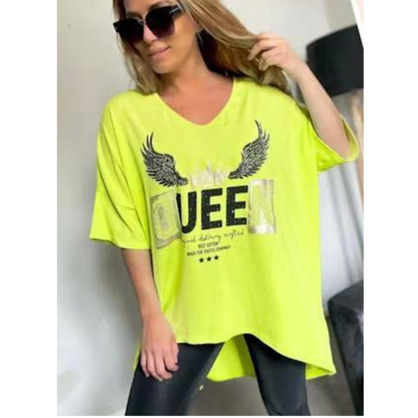 Shirt Queen Gelb 16785