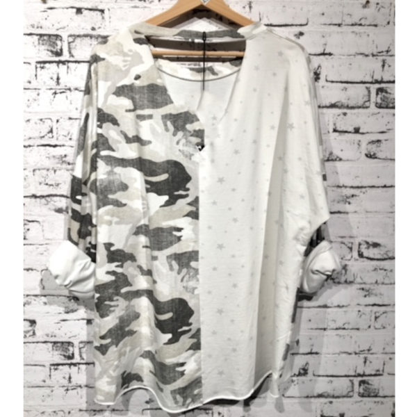 Shirt Camouflage Weiß 3