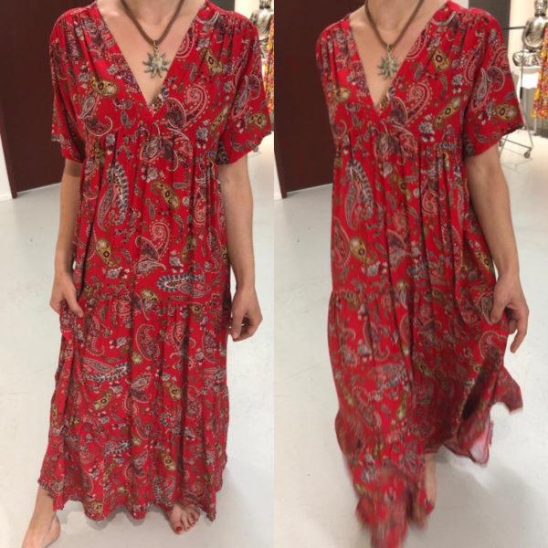 Kleid Alina Paisley Rot